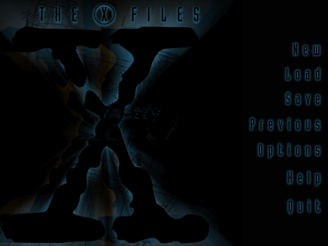 The X-Files Game - Title Screen